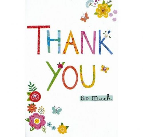 12 Individually Wrapped Cards - Thank You - Flowers